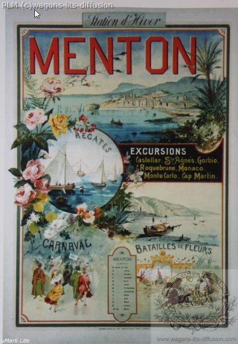 PLM Menton station d'hiver (Ref N° 1056