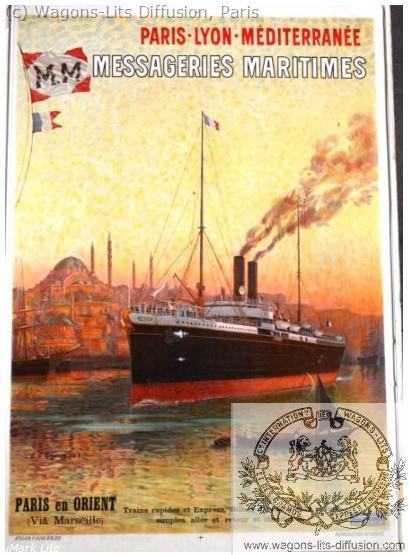 PLM Messageries maritimes marseille Ref 1018