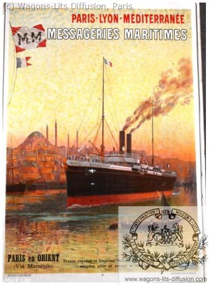 PLM Messageries maritimes marseille  (ref N° 1018)
