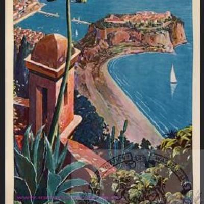 PLM Monaco vue d'en haut Ref N° 550