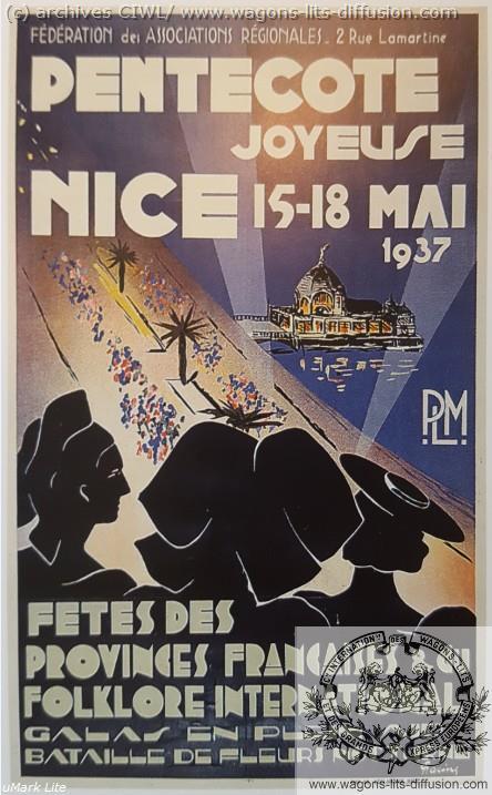 PLM Nice pentecote 1937 (Ref N° 945