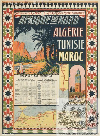 PLM Nord Afrique Nord Algerie Tunisie Maroc (Ref N° 1047