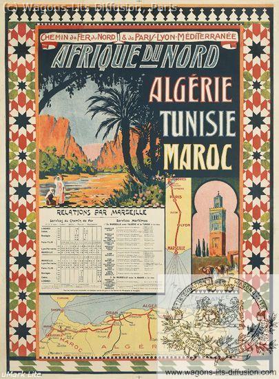 PLM Nord Afrique Nord Algerie Tunisie  Ref 1047