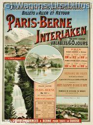 plm paris berne interlaken 1900  (ref N° 631)
