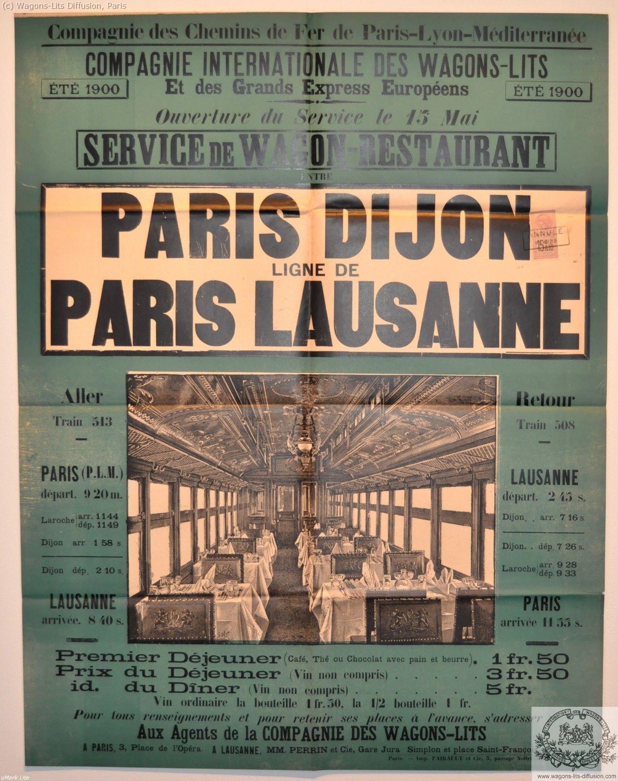 PLM Paris Dijon Lausanne Ref 1077
