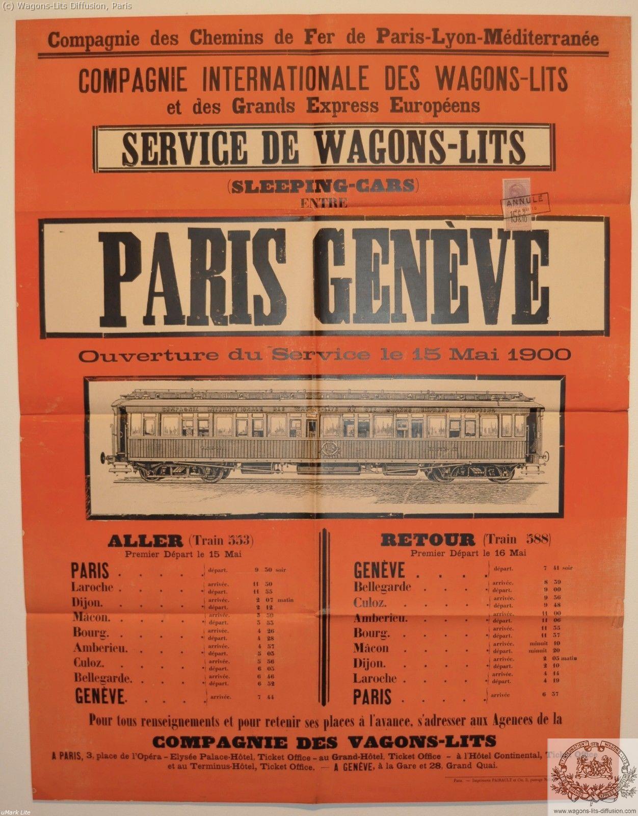 PLM Paris Genève Ref 1078