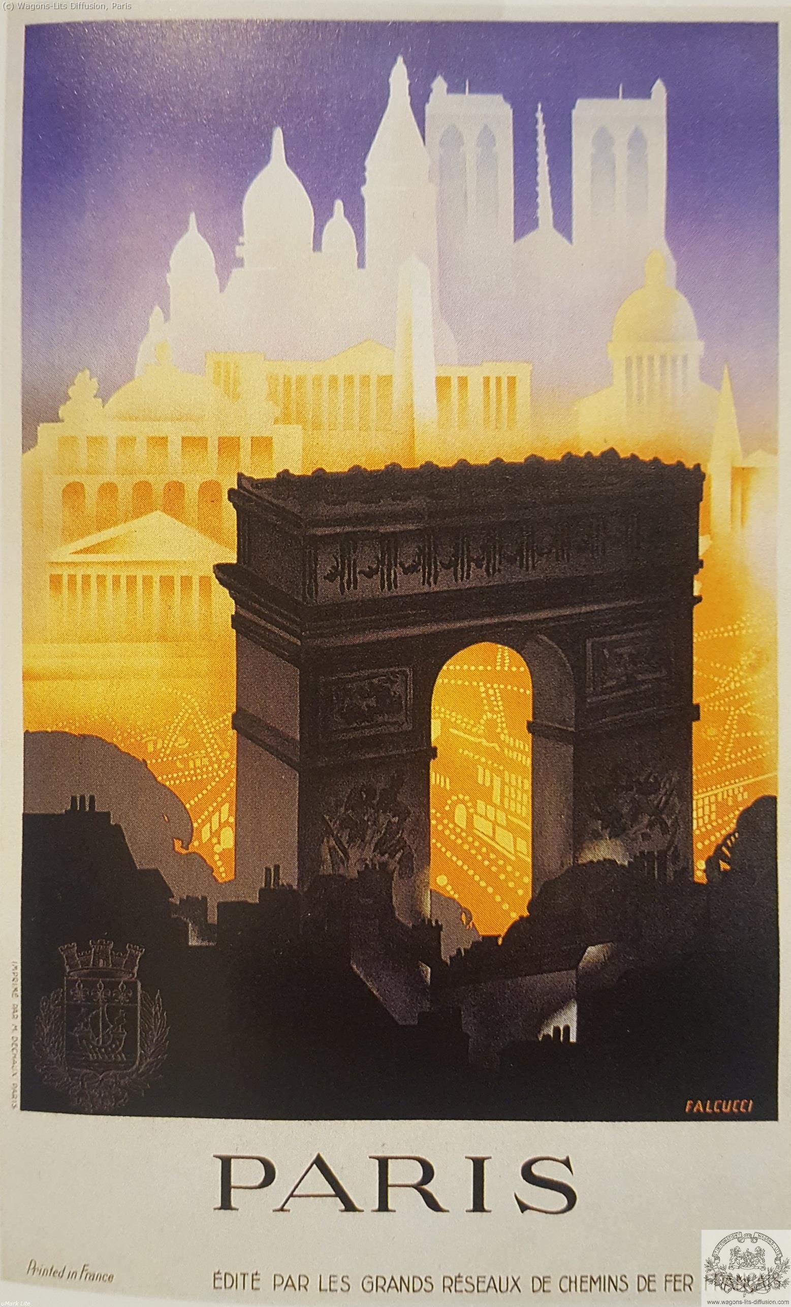 PLM Paris Grands Réseaux Arc Triomphe Ref 1015