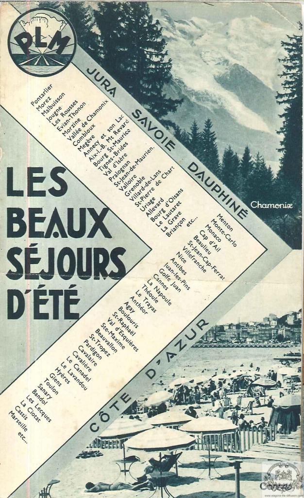 PLM pub 1935 beaux sejours  (ref N° 946)