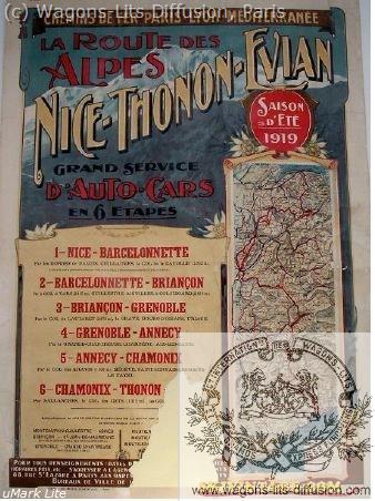 PLM Route des Alpes Nice Thonon Evian Ref 992