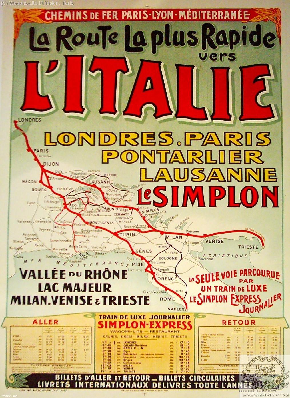 PLM Simplon La route vers l'Italie Ref 1093