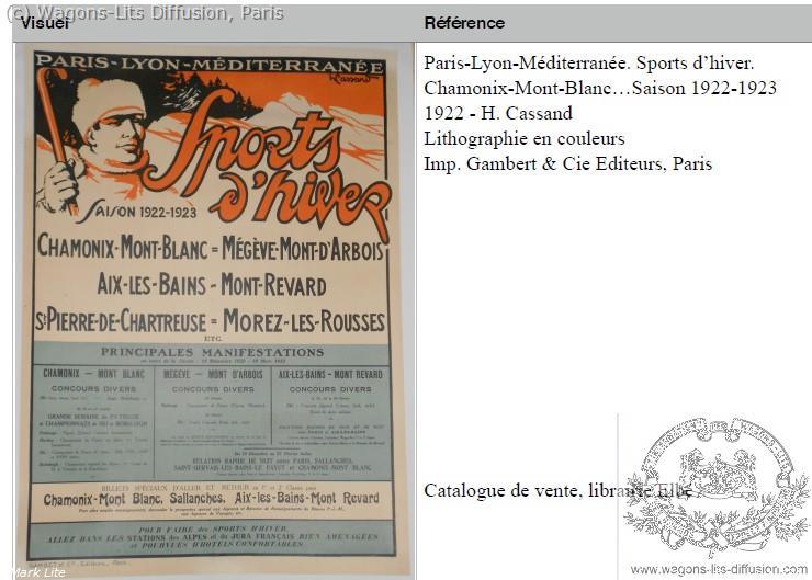 PLM Sports d'hiver 1922 Ref 966
