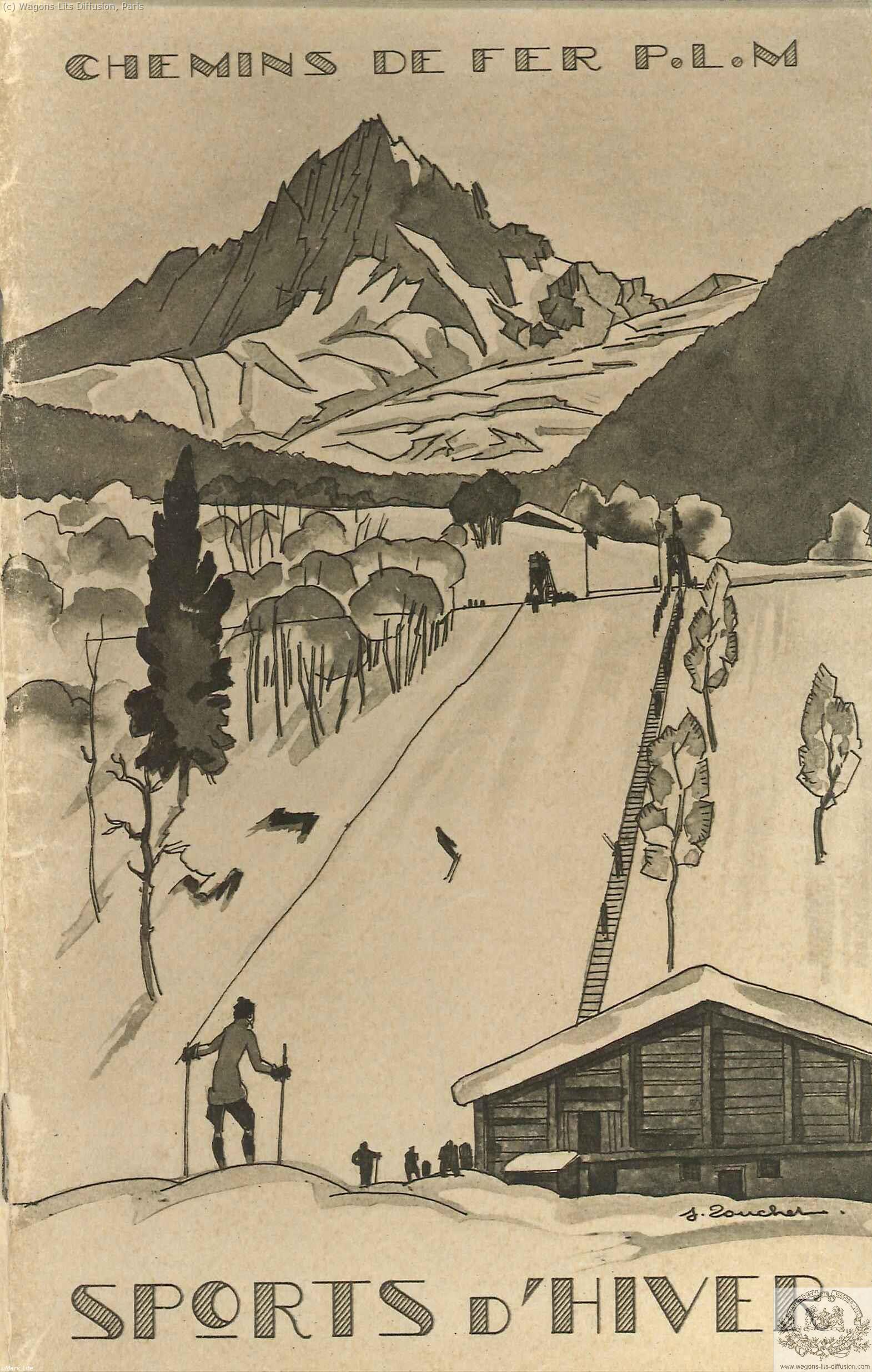 PLM sports d'hiver brochure pub Ref 1048