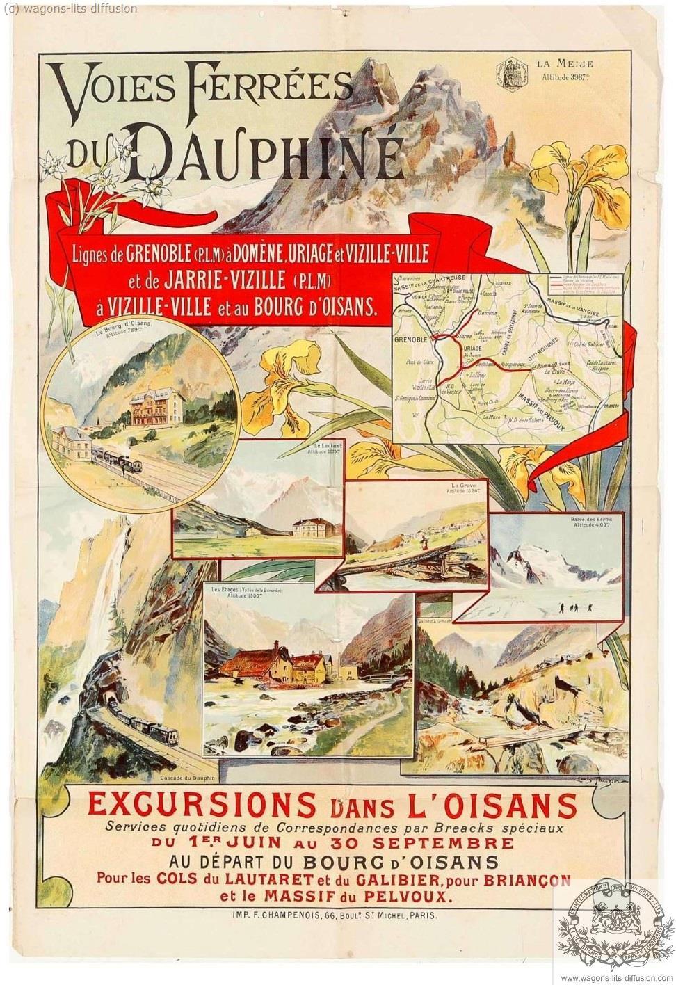 PLM Voies ferrées du Dauphiné (Ref N° 1054