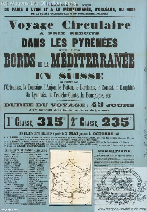 PLM Voyage circulaire  Pyrénées Méditerranée Ref 1063