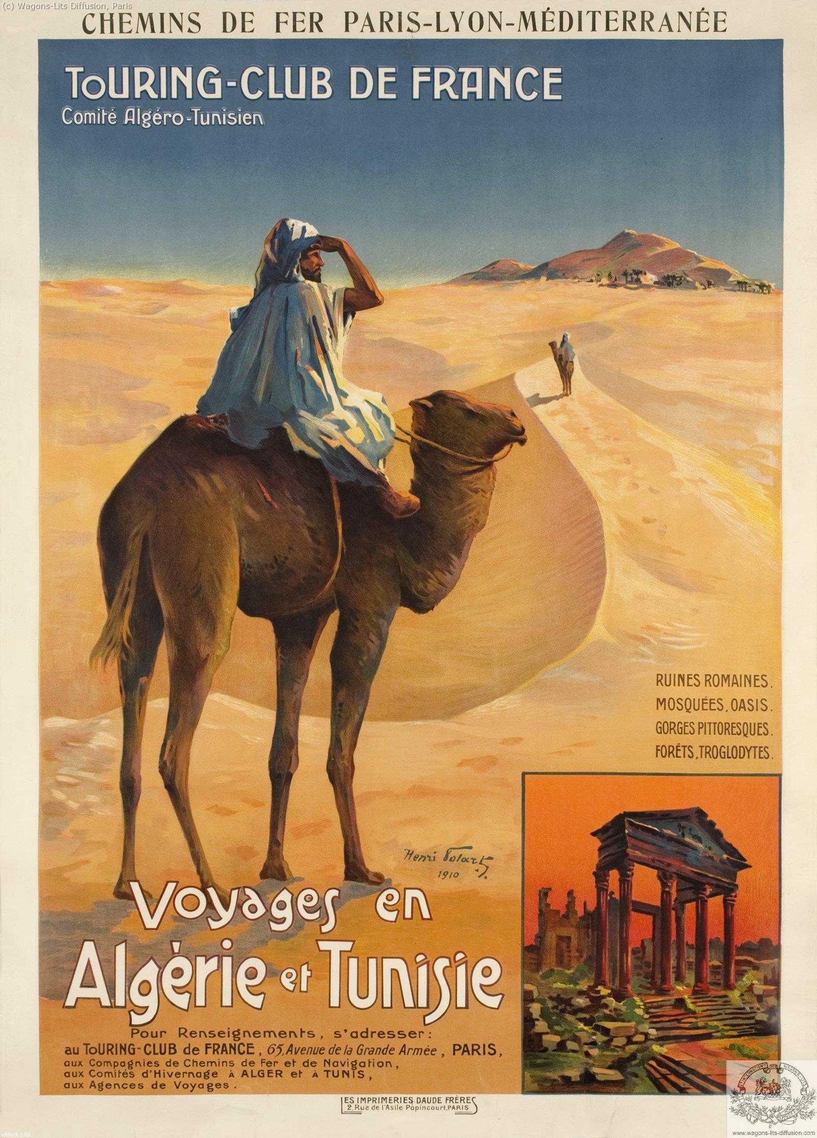 PLM voyages en algerie et tunisie  Ref 1033