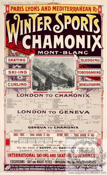 PLM Winter Sports Chamonix Mont-Blanc Ref 1086