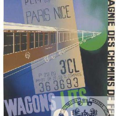 PLM WL Wagons-lits 3e classe Ref 1110