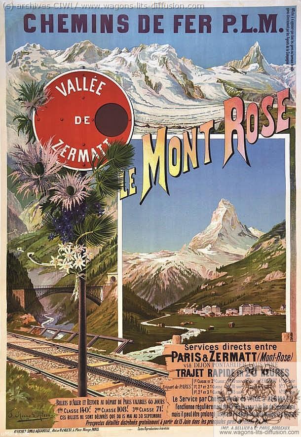 PLM Zermatt Mont rose Suisse (2) (Ref N° 873