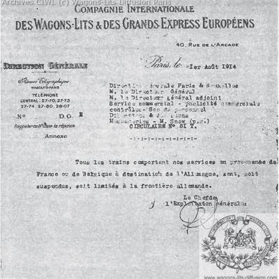 Wl archives courrier de service annulation des services ciwl 1914