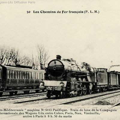 Wl calais mediterranee express en 1921