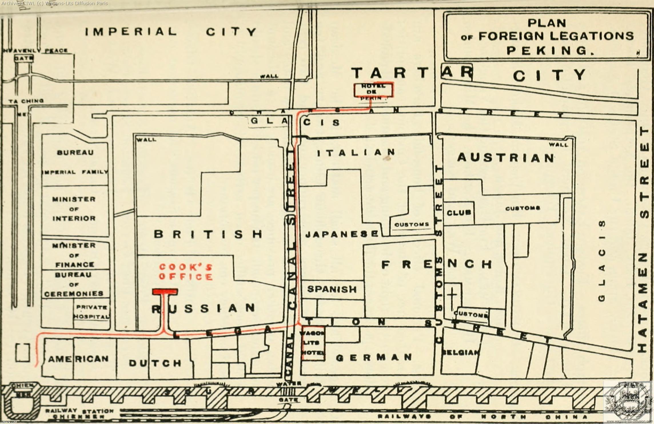 Wl carte de la legation internationale peking 1917