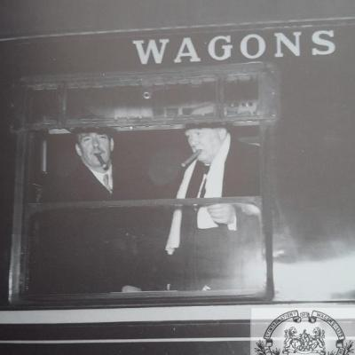 Wl churchill et eden night ferry 1951