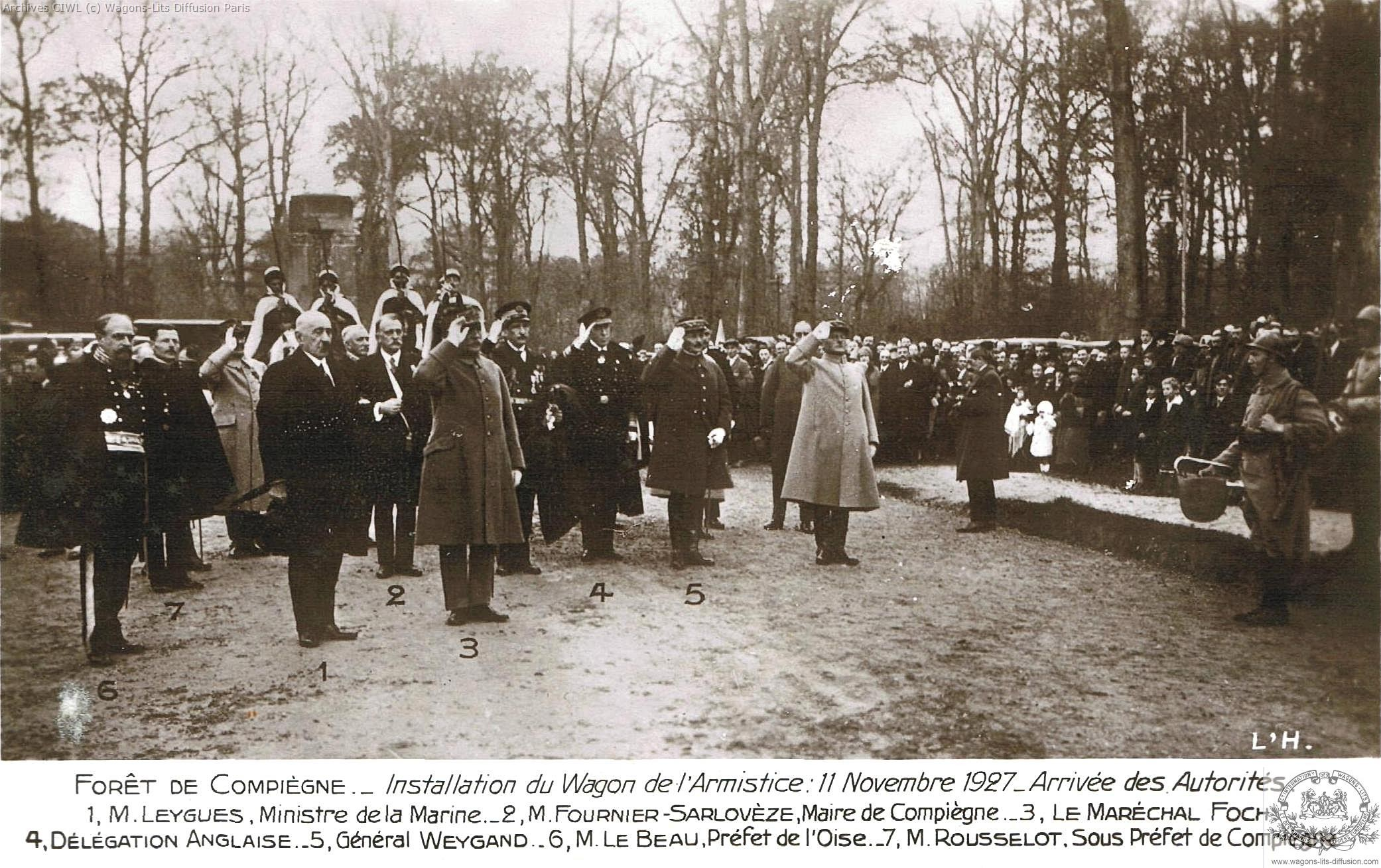 Wl commemoration armistice 11 nov 1927