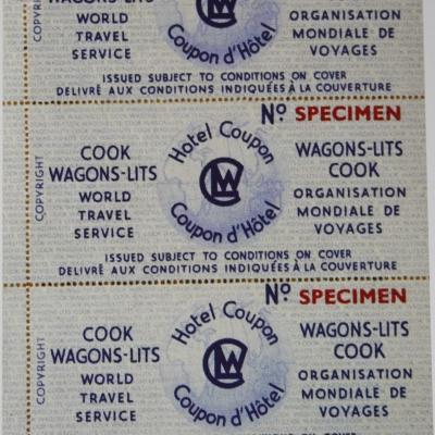 Wl cook coupon reservation hotels 1935