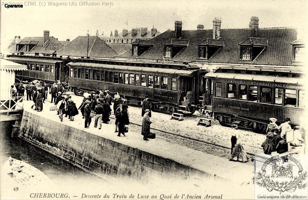 Wl descente du train ciwl a cherbourg cp