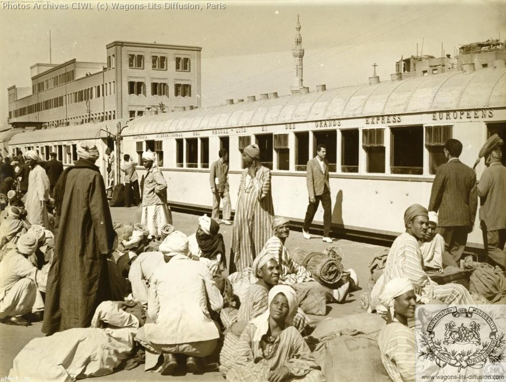 Wl egypt railways cairo train station in 1960 wagons lits coaches to luxor