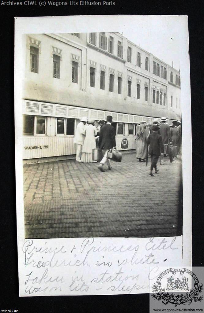 Wl egypt railways prince eitel friedrich of germany 1910 20s boarding a train at cairo station