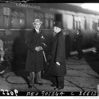 Wl gare du nord arrivee du prince de danemark 1932