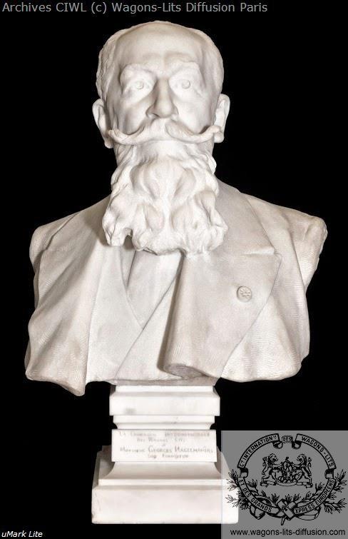 Wl georges nagelmackers buste en marbre blanc 1913