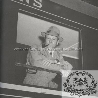WL Georges Simenon en 1955