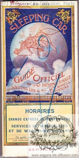 WL guide horaires CIWL 1923