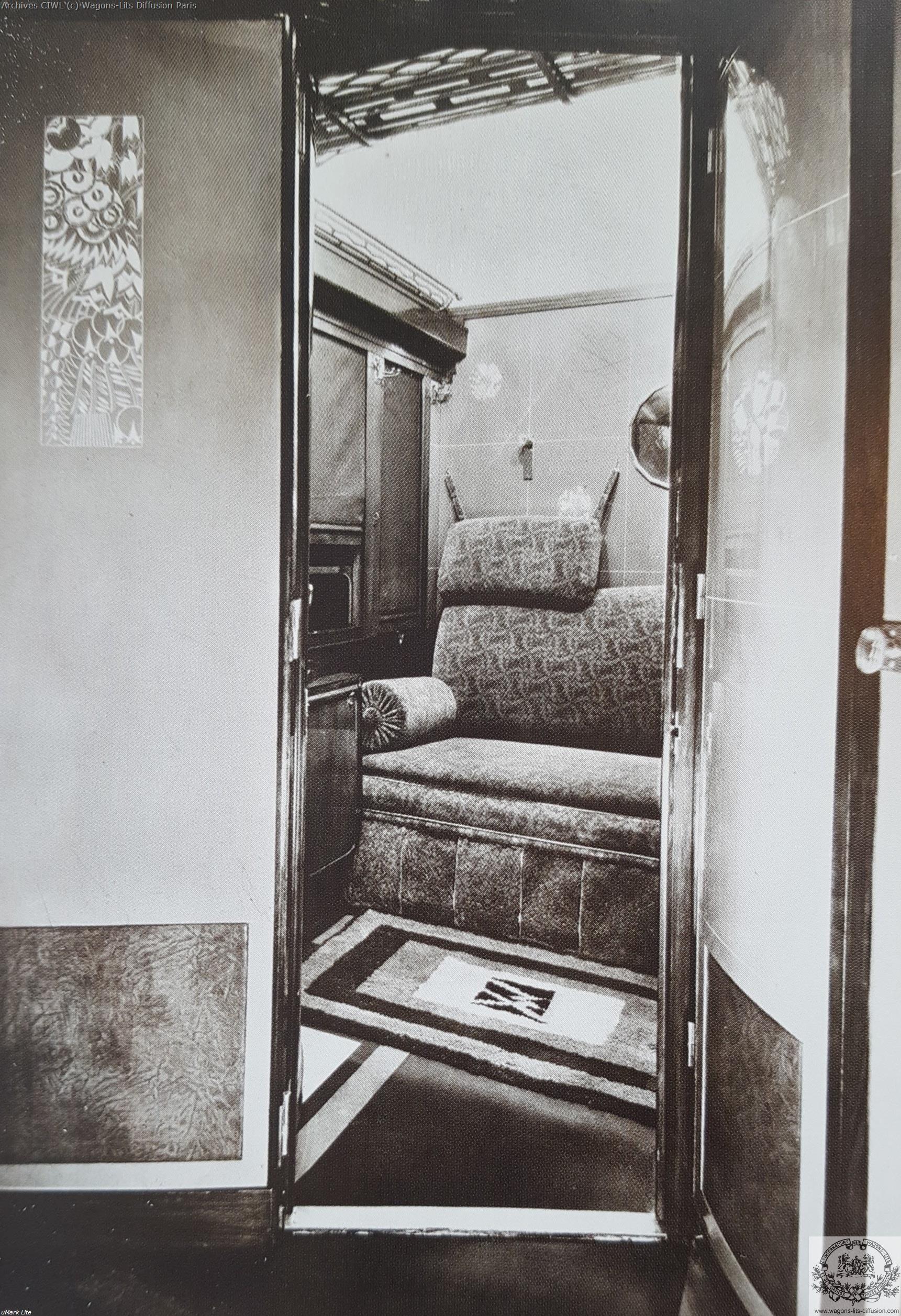 Wl interieur compartiment vers 1925