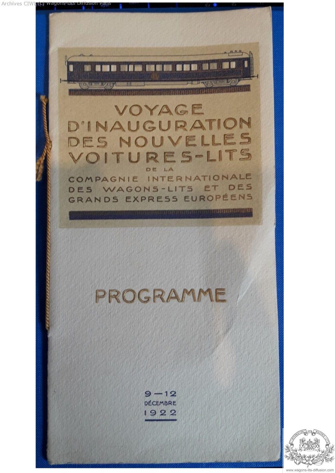 Wl leaflet inauguration new wl 1922 1