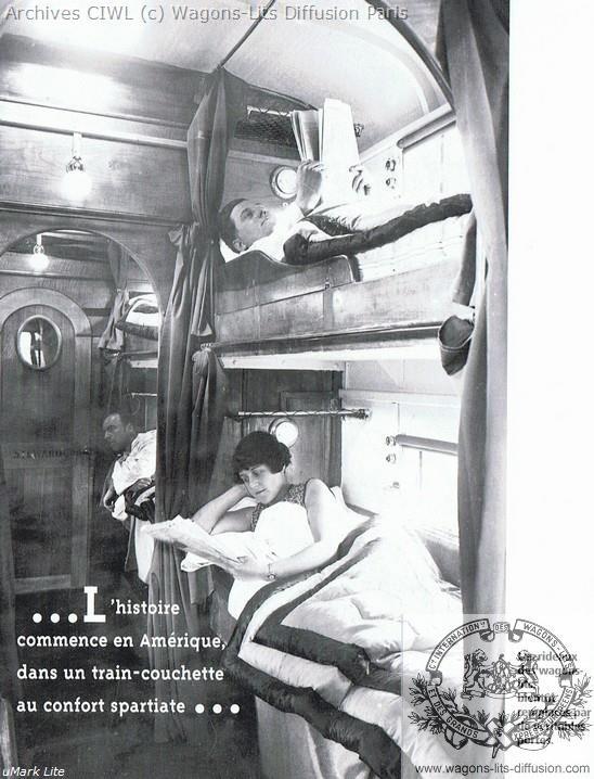 Wl les premeirs wagons lits aux usa