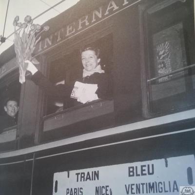 Wl louise de vilmorin train bleu