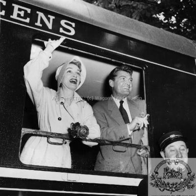 WL Marlène Dietriech et Jean Marais 1955