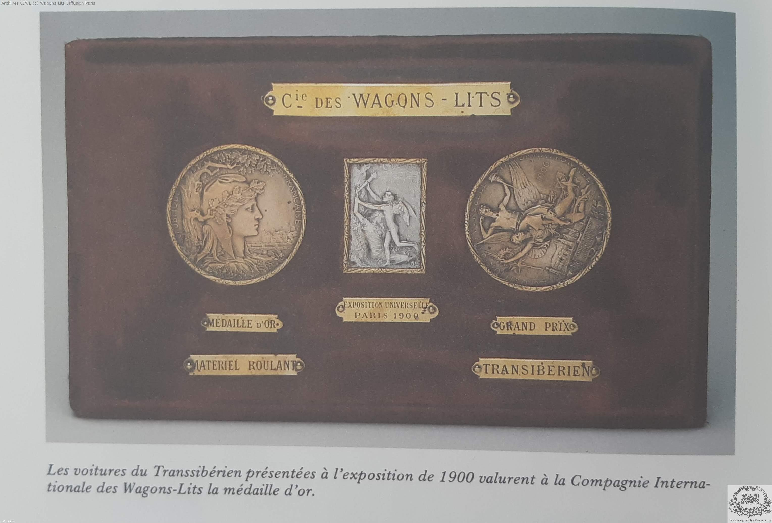 Wl medaille expo universelle 1900 transsiberien