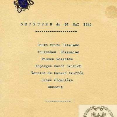 Wl menu 1925