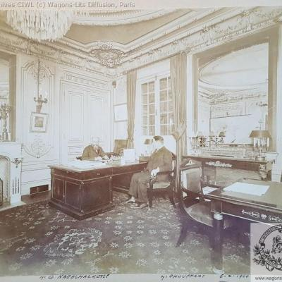 Wl nagelmackers bureau vers 1880