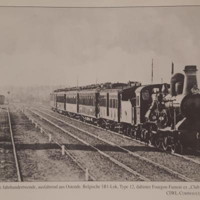 Wl nord express ex club train ostende 1898
