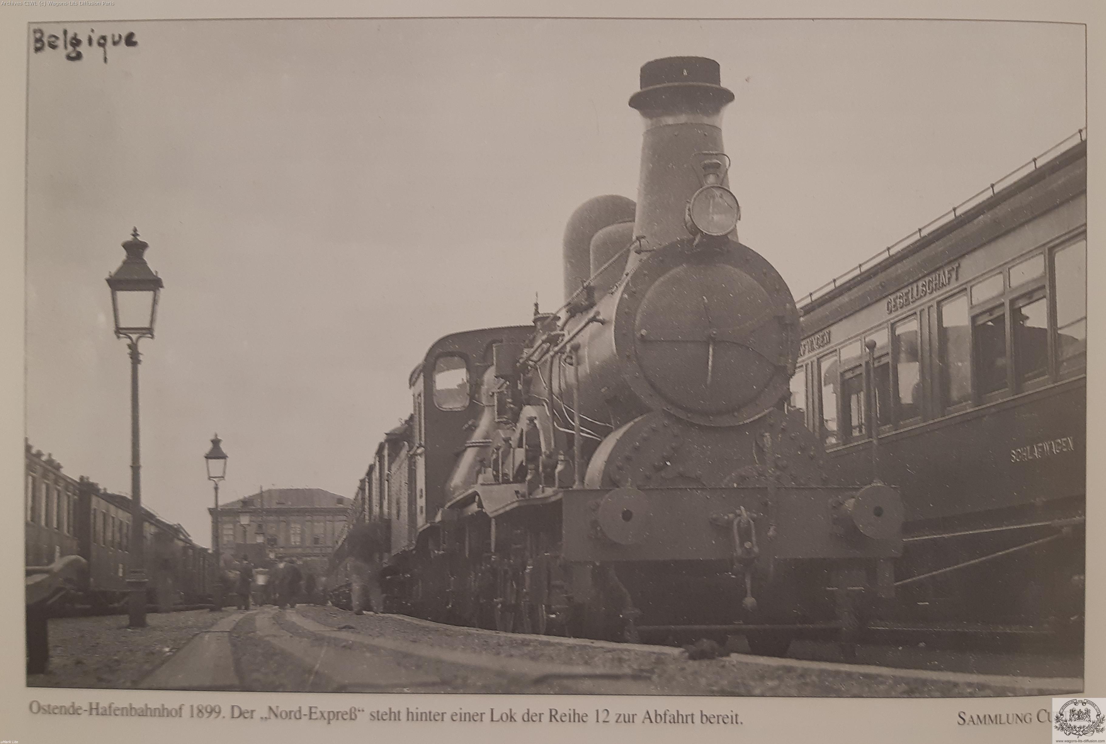Wl nord express gare ostende 1899