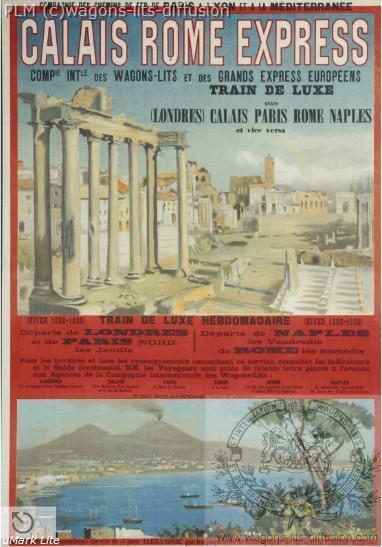 WL PLM calais rome express italie