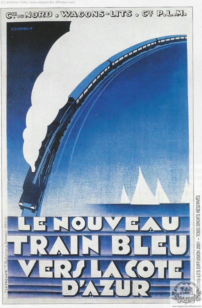 WL PLM nouveau Train Bleu 1928 (Ref N° 885