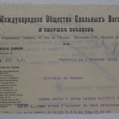 Wl russie courrier 1911