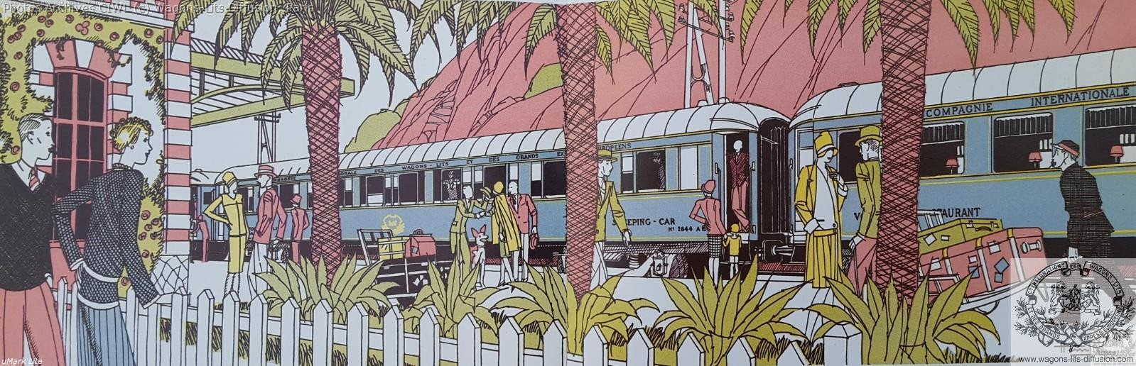Wl train bleu depliant pub ciwl 1925