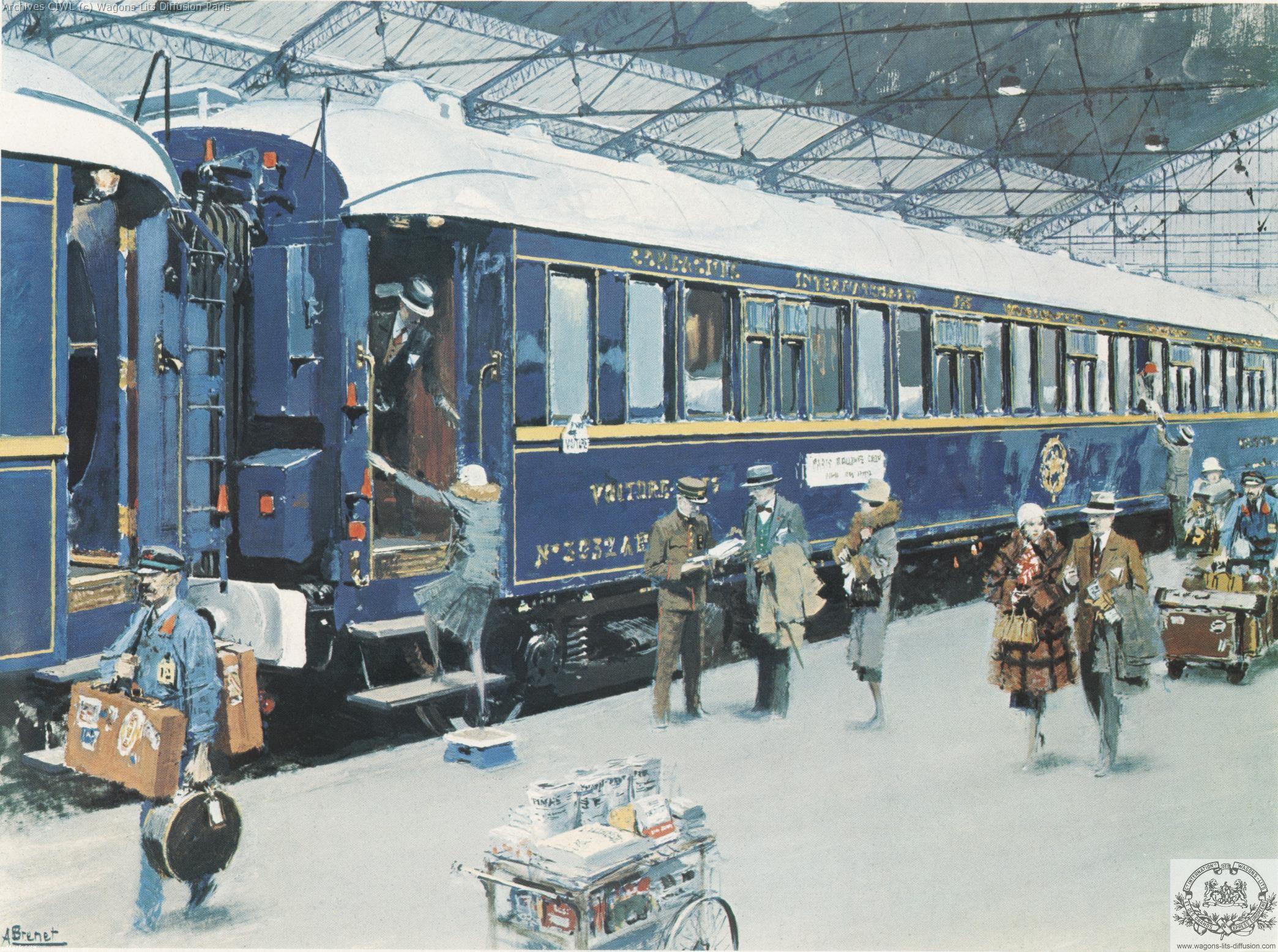 Wl train bleu gouache brenet 1